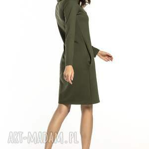 TESSITA sukienki dopasowana sukienka z kominem