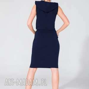 sukienki dresowa sukienka z kapturem t133