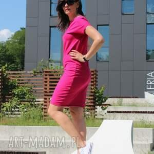 72243ae1f6 sukienki - sukienka dresowa midi klasyczny krój - szary