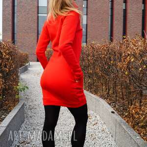 handmade sukienki dresowa sukienka dresówka z kominem