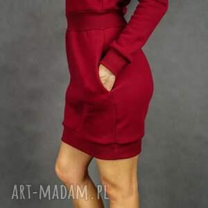 sukienki długi rękaw sukienka dresowa bombdress