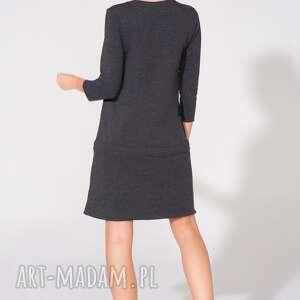 sukienki dresowa sukienka dresowa, t150, ciemnoszara