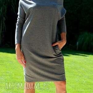 nietypowe sukienki kieszenie sukienka dresowa oversize