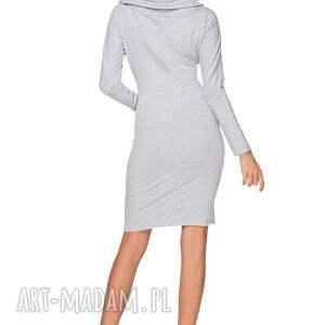 sukienki sukienka dresowa z szerokim kominem