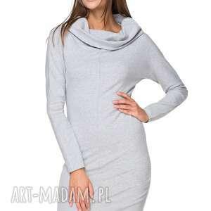 sukienki dresowa sukienka z szerokim kominem