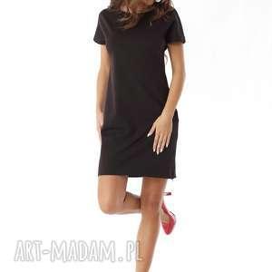 Ella Dora sukienki polski producent sukienka dresowa z zamkami czarna