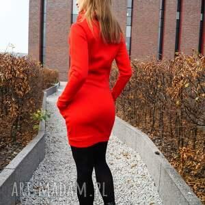 sukienki z-kominem sukienka dresowa dresówka z kominem
