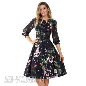 sukienki kropki sukienka ebony midi aurelia