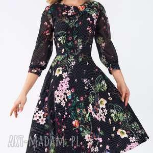 czarne sukienki kropki sukienka ebony midi aurelia
