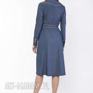 sukienki dress sukienka elegancka z kołnierzykiem