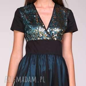 moda sukienki niebieskie sukienka emily