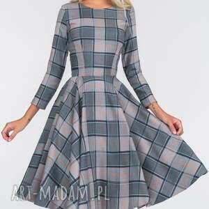 turkusowe sukienki koło sukienka eve 3/4 midi jenna