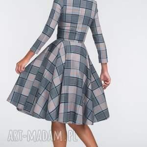 unikatowe sukienki midi sukienka eve 3/4 jenna