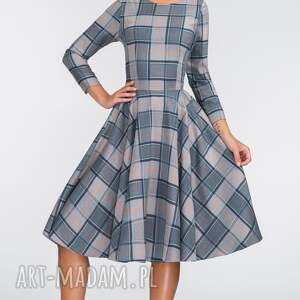 pełne sukienki szare sukienka eve 3/4 midi jenna