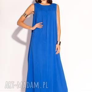 hand made sukienki kobaltowa sukienka fara