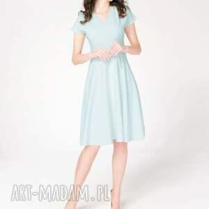 sukienki elegancka-sukienka sukienka felicia niebieska roz