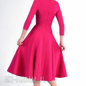 sukienki rozkloszowana sukienka fler total midi amarant