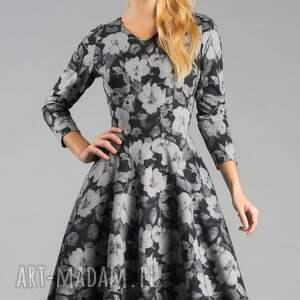 sukienki rozkloszowana sukienka fler midi dafne