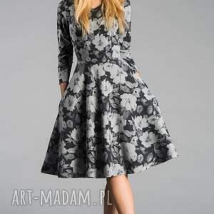 szare sukienki sukienka fler midi dafne