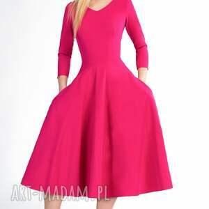 rozkloszowana sukienki sukienka fler total midi amarant