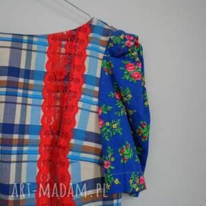 czerwone sukienki folk sukienka design aneta larysa