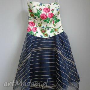 niebieskie sukienki folk sukienka design aneta larysa
