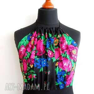 czarne sukienki sukienka folk na zamówienie