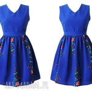 unikatowe sukienki sukienka folkowa ludowe kwiaty