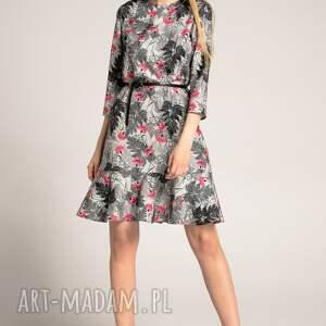 atrakcyjne sukienki sukienka-z-falbaną sukienka francesca black fern