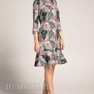sukienka-z-falbaną sukienki sukienka francesca black fern
