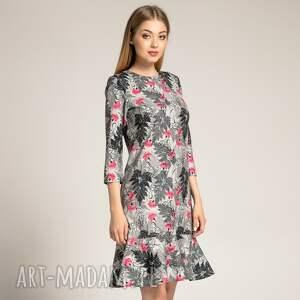 sukienki sukienka-z-falbaną sukienka francesca black fern