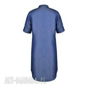 jeans sukienki sukienka furiru blu
