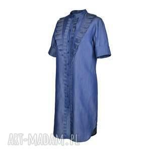 sukienki jeans sukienka furiru blu