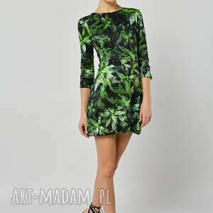 zielone sukienki dzianina sukienka garden party