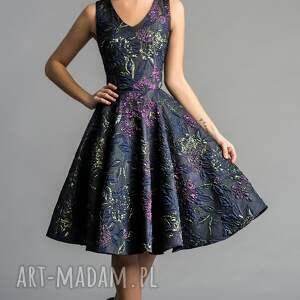 kolorowe sukienki midi sukienka gina (koło) tiara
