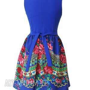 folkowa sukienki sukienka góralska z tiulem