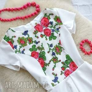 handmade sukienki sukienka góralskie kwiaty folk