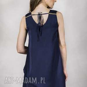 eleganckie sukienki koktajlowa sukienka granat s na zamówienie