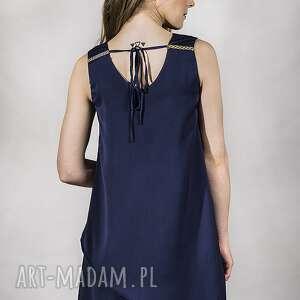 ręcznie wykonane sukienki sukienka granat