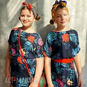 sukienki wiskoza sukienka granatowa w kwiaty maxi