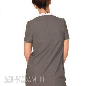 sukienki elegancka sukienka graya