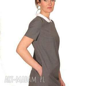 szare sukienki elegancka sukienka graya