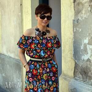 unikalne sukienki sukienka z-falbaną halina 5891