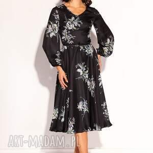 wesele sukienki czarne romantyczna sukienka midi z kolekcji premium