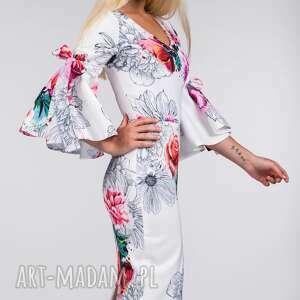 midi sukienki białe sukienka ina delicja