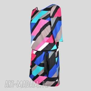 handmade sukienki sylwester sukienka indietro multicolor