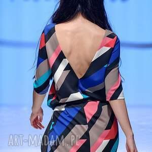 sukienki sylwester sukienka indietro multicolor