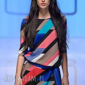 handmade sukienki sukienka indietro multicolor
