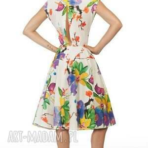 kolorowe sukienki kwiaty sukienka ines midi justine