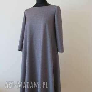 intrygujące sukienki 7 - sukienka jasno szara